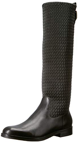 Cole Haan Women's Lexi Grand Stretch Boot Mid Calf, Black Leather, 9 B US