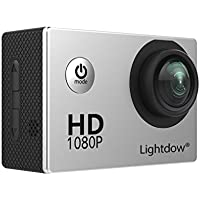 Lightdow LD4000 1080P HD Sports Action Camera Bundle with DSP:NT96650 Chip, 1.5-Inch LPS-TFT LCD, 170° Wide Angle Lens and Battery (Silver)