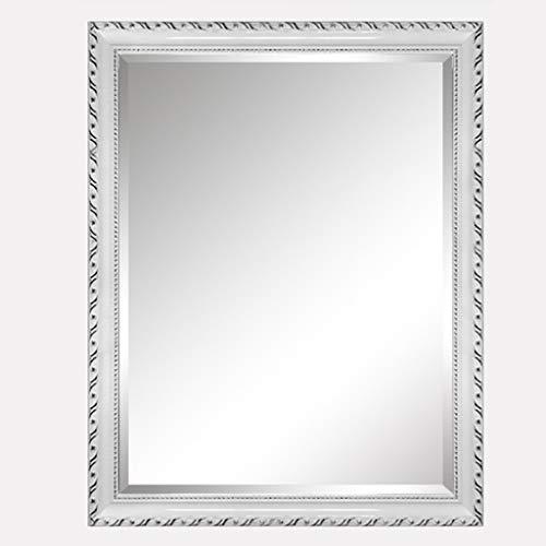 Wooden Side Frame Hotel Mirrornon-Illuminated, Solid Wood Border Makeup Mirror, Bathroom Mirror, -