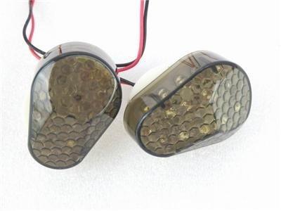 Super Bright Flush Mount Smoke Lens 15 Amber LED Turn Signal Light Blinker Indicator