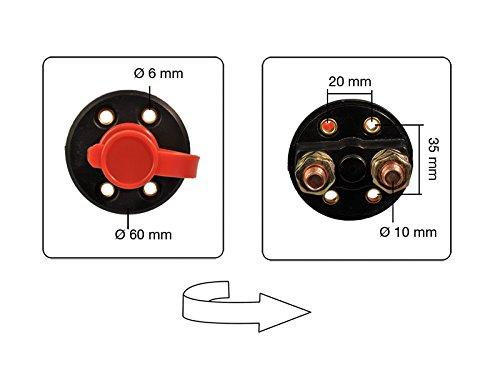3 St/ück Batterie Trennschalter 2 Polig 300 A inkl Schl/üssel