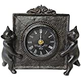 東洋石創 動物オーナメント 置時計 ねこ 11085