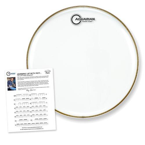 Floor Tom Head (Aquarian Drumheads CC16 Classic Clear 16-inch Tom Tom Drum Head)