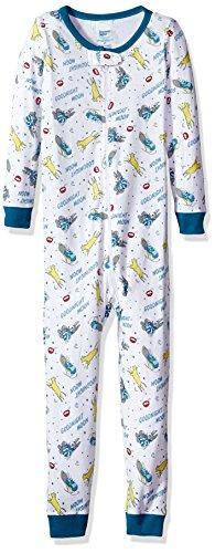 Goodnight Moon Toddler Kids Goodnight Moon One Piece Sleeper Bookjamas  Pajamas, White, 3T