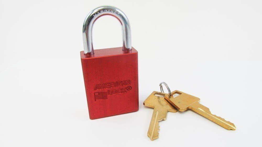 "Lockout Padlock, KA, Red, 1-7/8""H"