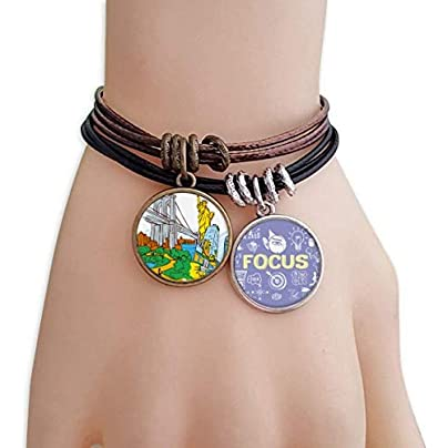 master DIY New York America Watercolor Bracelet Rope Wristband Force Handcrafted Jewelry Estimated Price -
