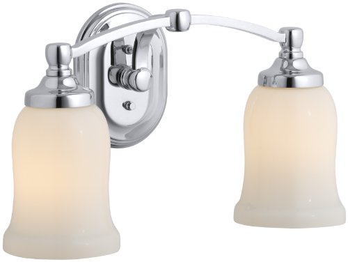 Kohler K-11422-CP Bancroft Double Sconce, Polished Chrome (Transitional Double Sconce Wall)