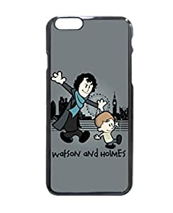 "IPhone 6 Case, Sherlock Holmes Calvin and Hobbes Crossover Personalized Custom Fashion iPhone 6 (4.7"") Hard Case Cover By Perezoom Design by mcsharks"