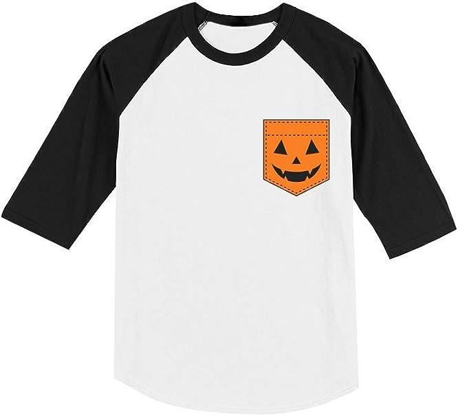 Amazon.com: Jack O Lantern - Camiseta de béisbol de manga 3 ...