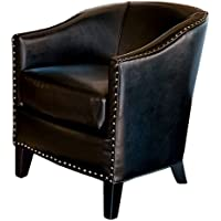 Best Selling Studded Club Chair, Black