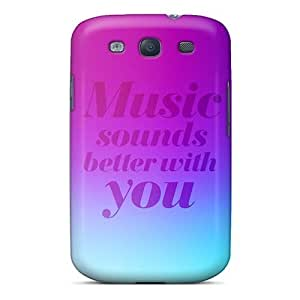 Galaxy S3 Music Sounds Print High Quality Tpu Gel Frame Case Cover by supermalls