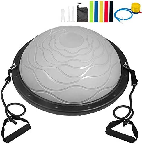 Happybuy Half Balance Ball,1100LBS Balance Trainer Exercise Ball,Portable Balance Exercise Ball Half Ball