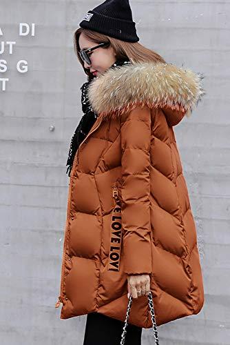 Coton Caramel Minces En Femmes Pour Pain Couleur Coton Clothes Vêtements Épais D'hiver Longue Veste qxSAwnPRtO
