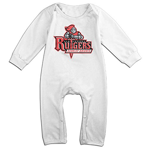 Price comparison product image OOKOO Baby's Rutgers University New Jersey Bodysuits Outfits White 6 M