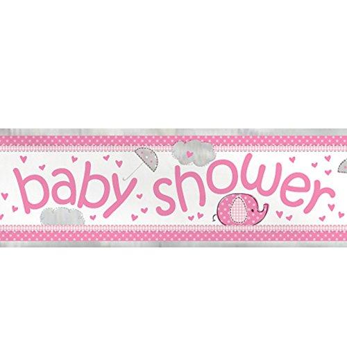 12ft Foil Elephant Shower Banner