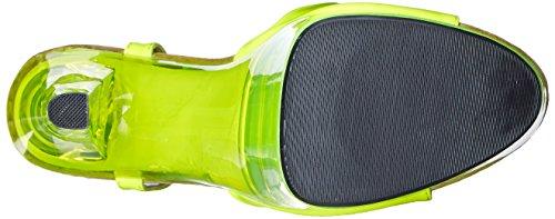 La Più Alta Delle Donne Tacco Fantasia-101 6 Pollici Sandalo Giallo Neon