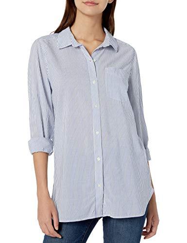 Amazon Brand - Goodthreads Women's Lightweight Poplin Long-Sleeve Button-Front Shirt