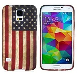 United States Of American USA U.S. Flag Silicone Rubber Soft TPU Skin Back Cover Gel Case Protective For Samsung Galaxy S5 I9600