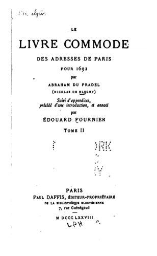 Le livre commode des adresses de Paris pour 1692 - Tome II (French Edition)