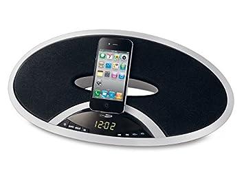 71a70a57e2d Caliber HSD401I - Despertador con base de carga y altavoz para Apple iPod,  iPhone y iPad, color negro: Amazon.es: Electrónica