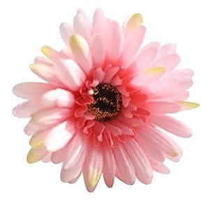 Celine lin Elegant 6 Pcs Artificial Sunflower Fake Silk Sunflower Chrysanthemum Floral Home Decorations for Bridal Wedding Bouquet 32