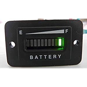 LOOYUAN 36 Volt Battery Gauge, Status Indicator w/relay output - Golf Cart