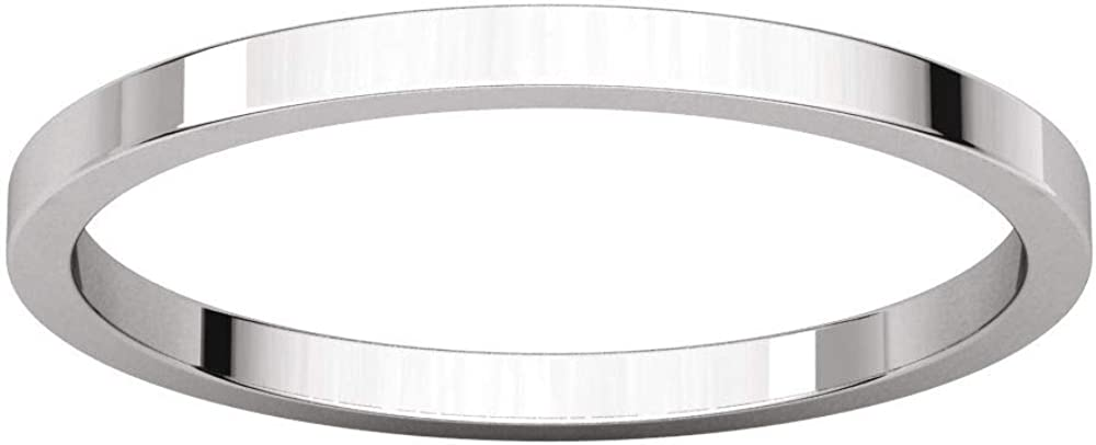 10K 14K or 18K Rose White or Yellow Gold 925 Sterling Silver or Platinum 1.5mm Flat Comfort Fit Classic Wedding Band