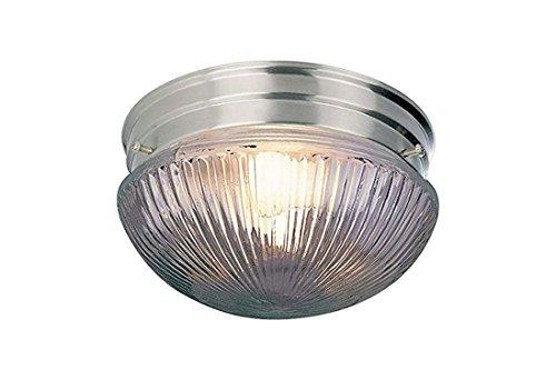 Volume Lighting V7058-33 2-Light Flush Mount Ceiling Fixture, Brushed Nickel