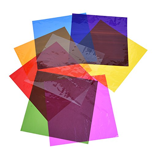 Outus Cello Sheets Cellophane Wraps, 8 x 8 Inch, 8 Colors, 104 (Cellophane Paper)