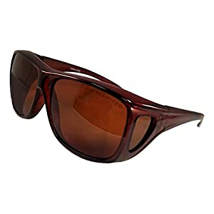 Father's Day Gift Idea Cool Fancy Hot Brown Frame Amber Lens Flat Top Full Coverage Style Branded Sexy Athletic Sports Running Cycling Military Tactical Sunglasses For Daddy Dad (Brown Frame, Amber)