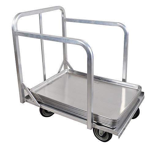 BK Resources BK-BPD-1 Bun Pan Dolly Truck, for 18 inch x 26 inch sheet pans, welded aluminum construction, 5 inch swivel casters