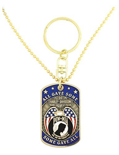Dog Pow Mia Tag (Harley-Davidson Dog Tag, Freedom Is Not Free POW-MIA Chain/Key Chain 8002817)