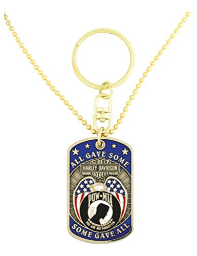 Harley-Davidson Dog Tag, Freedom Is Not Free POW-MIA Chain/Key Chain 8002817