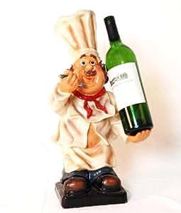 """Fat chef wine bottle holder game room 19"""""""