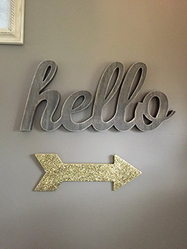 Gold Glitter Arrow, Wall Decor, Gallery Wall, Girls Room, Home Decoration