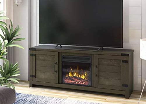 Cheap DesignTN- Entertainment Center with Fireplace-TV Console with Fireplace-Chico Oak-for TVs Up to 65 Inch-A Must-Have for Living Areas and Entertainment Spaces Black Friday & Cyber Monday 2019