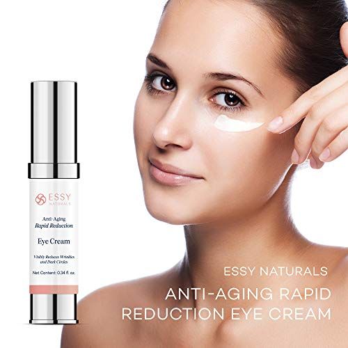 41eK4BoVSIL - EssyNaturals.Anti-Aging Rapid Reduction Eye Cream - Visibly and Instantly Reduces Wrinkles, Under-Eye Bags, Dark Circles in 120 Seconds