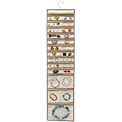 Master Craft 50 Pocket Hanging Jewelry Organizer