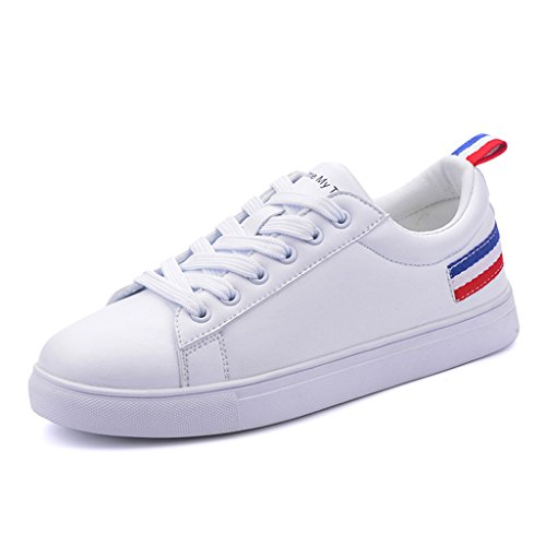 Chaussures Skateboard Mesdames Confortable Chaussures Lace Loisirs Flats Red Respirant Up Sports fBTSqI6