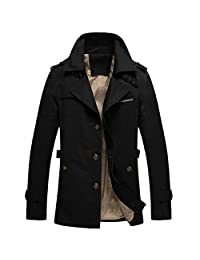 Men's Out Coat Jacket Solid Cotton Fashion Windbreaker Jacket