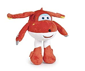 Super Wings - Peluche Jett avion color rojo 25cm - Calidad super soft