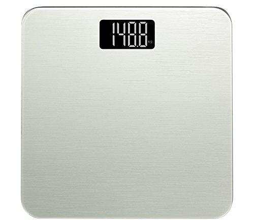 Smart Weigh Digitale Personenwaage Mit Fortschrittlicher Technologie Beim Betreten Der Waage 180kg, Silber