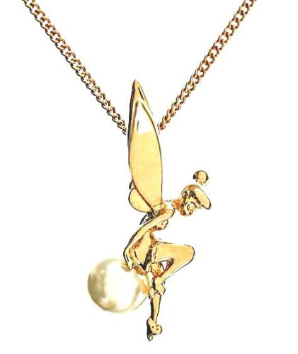 Disney couture gold plated tinkerbell sitting on a pearl necklace disney couture gold plated tinkerbell sitting on a pearl necklace aloadofball Gallery