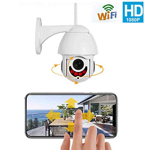 (Security Camera Wireless 5X Zoom Tilt Outdoor HD 1080P WiFi Home IR Motion Detection IP66 Weatherproof Camera)