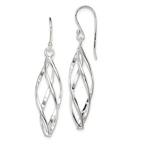 925 Sterling Silver Long Twisted Drop Dangle Chandelier Earrings Fine Jewelry Gifts For Women For ()