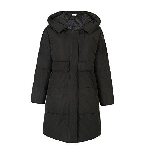 JIEHANS New 2018 Brand Hooded Jacket Women Loose Large Size Jacket Middle Long Section Windbreaker (M, Black) by JIEHANS