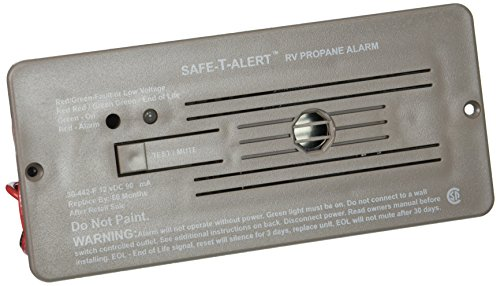 MTI Industries 30-442-P-BR Safe T Alert 30 Series Propane/LP Gas Alarm - Flush Mount, Brown