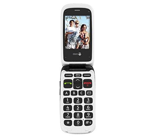 Doro PhoneEasy 612 Klapphandy GSM Mobiltelefon (2 Megapixel Kamera, großen Tasten und Display) schwarz-weiß