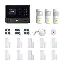 Golden Security Touch screen keypad LCD display WIFI & GSM 2-in-1 with Auto Dial,Motion Detectors and more diy Home Alarm System G90B-B02