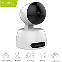 Eazieplus Security IP Camera, 720P Home Wireless Video Surveillance System With Two Way Audio Remote Indoor Night Vision For Pet Monitor, Nanny Camera, Baby Monitor and Puppy Cam (White)